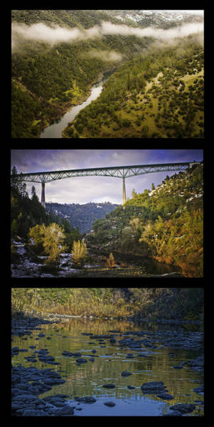 American River Triptych Poster