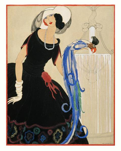 An Illustration Of A Young Woman For Vogue Poster