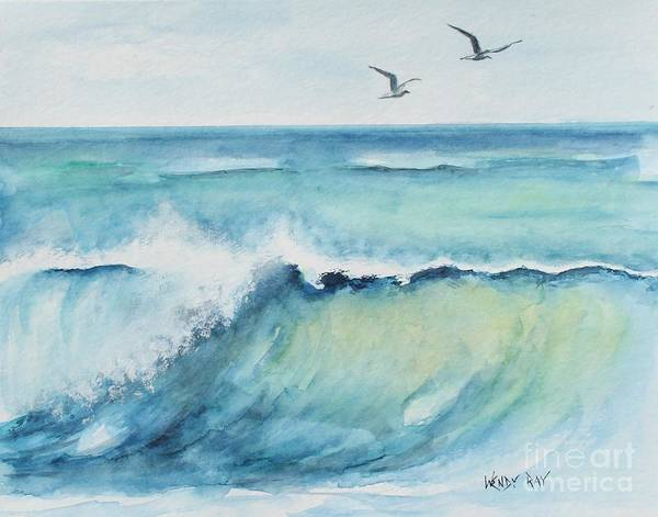 Poster featuring the painting An Ocean's Wave by Wendy Ray