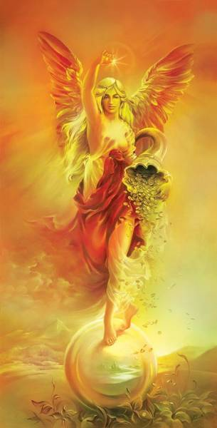 Angel Of Abundance - Fortuna Poster