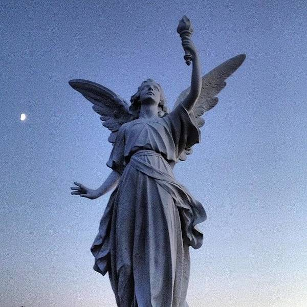 Angels At Sundown...cemetery  #cemetery Poster