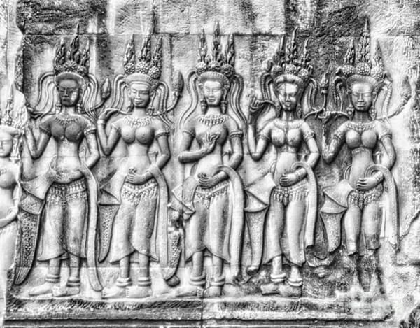 Poster featuring the photograph Angkor Dancing Apsaras by Kate McKenna