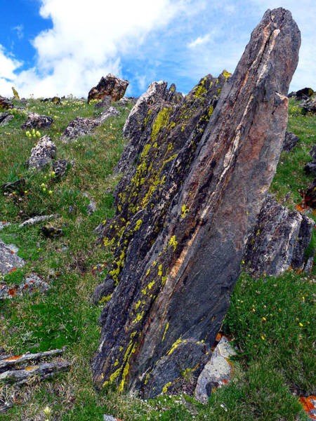 Angled Rocks With Lichen Poster