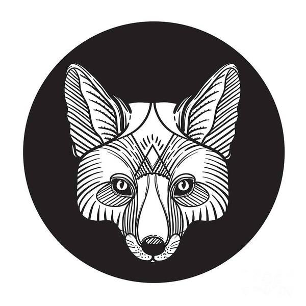 Animal Fox Head Print For Adult Anti Poster