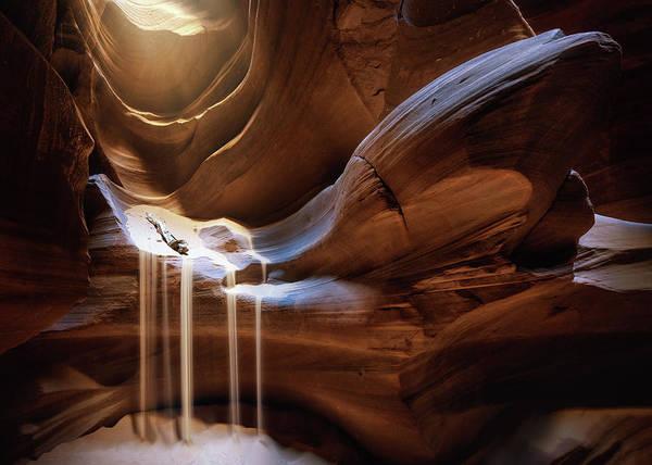 Antelope Waterfall Poster