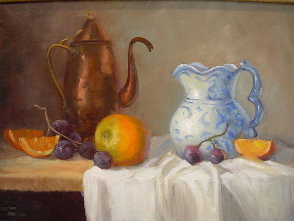 Poster featuring the painting Antique Pitcher by Naomi Dixon