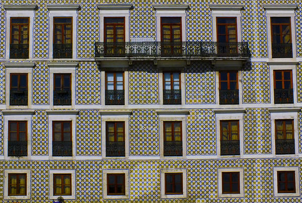 Apartment Block In Lisbon  Poster