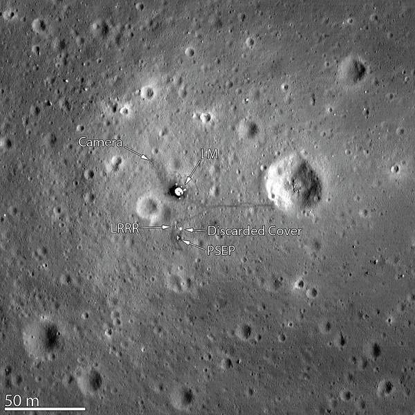 Apollo 11 Landing Site Poster