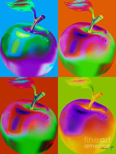 Poster featuring the digital art Apple Mania by Eleni Mac Synodinos