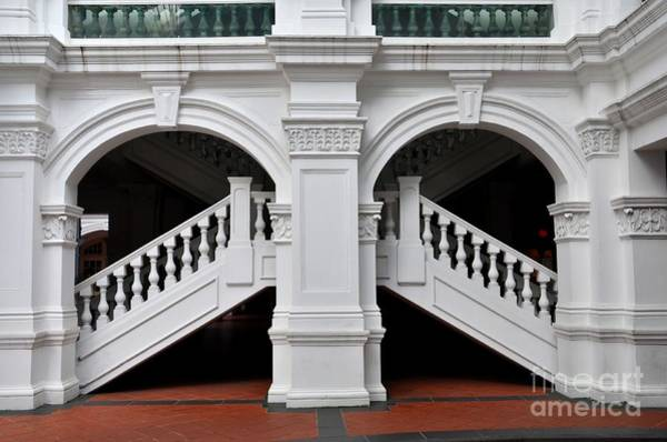 Arch Staircase Balustrade And Columns Poster