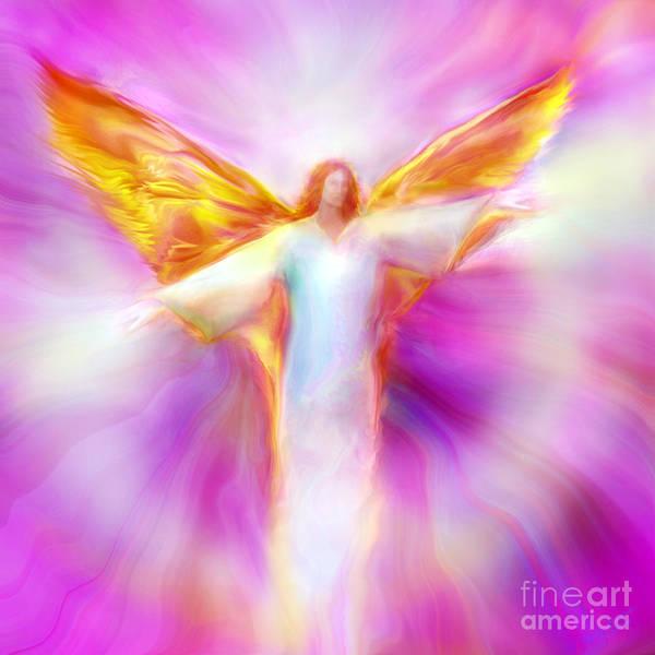 Archangel Sandalphon In Flight Poster