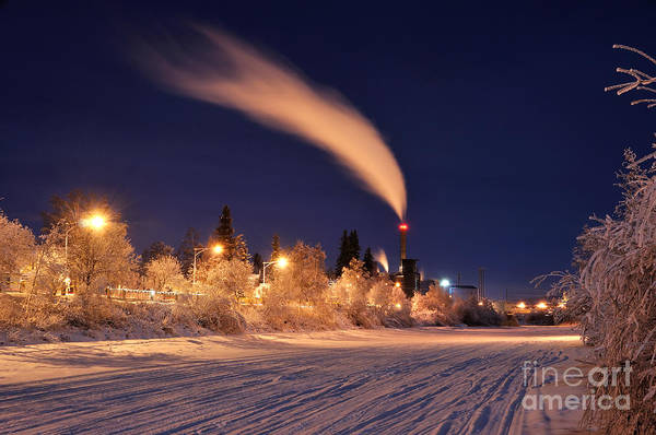 Arctic Power At Night Poster