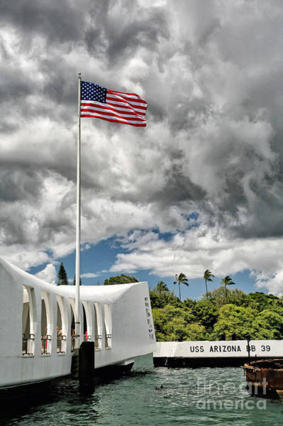 Poster featuring the photograph Arizona Pearl Harbor Memorial by Kate McKenna
