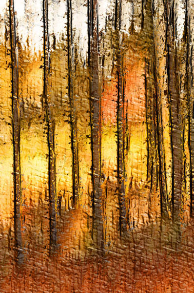 Artistic Fall Forest Abstract Poster