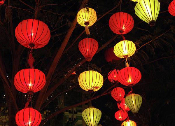 Asia, Vietnam Lanterns During Chinese Poster