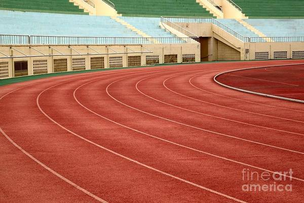Athletic Track And Field Markings Poster