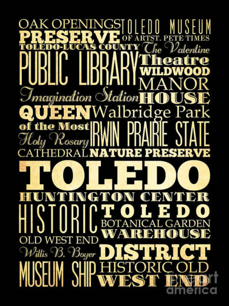 Attractions And Famous Places Of Toledo Spain Poster