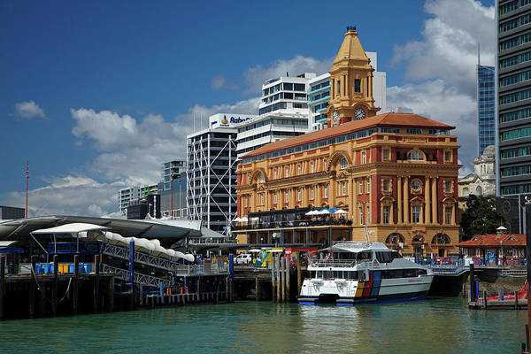 Auckland Ferry Terminal, And Historic Poster