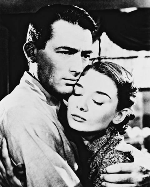 Audrey Hepburn In Roman Holiday  Poster