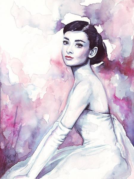 Audrey Hepburn Portrait Poster