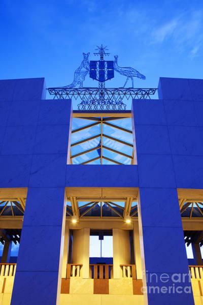 Australia Canberra Parliament House Twilight Poster