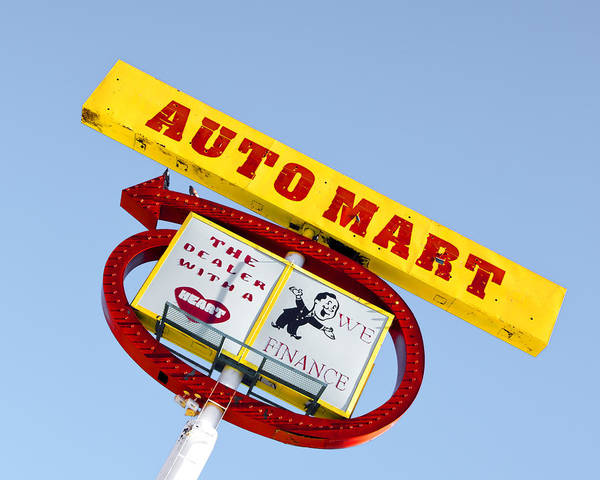 Poster featuring the photograph Auto Mart by Gigi Ebert