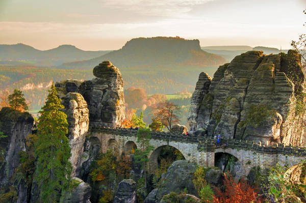 Autumn Afternoon On The Bastei Bridge Poster