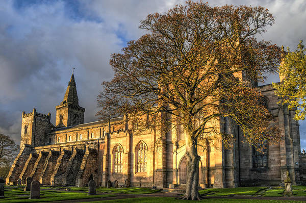 Poster featuring the photograph Autumn At Dunfermline Abbey by Ross G Strachan
