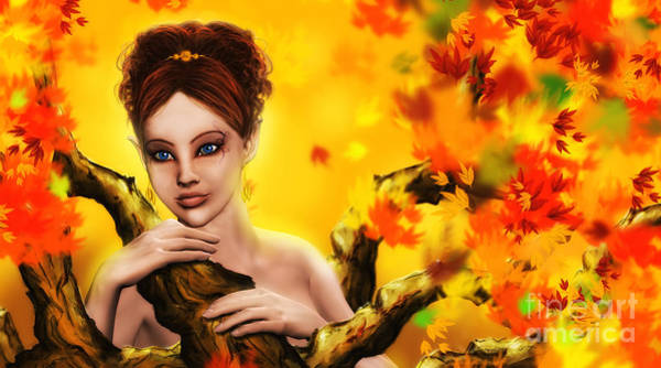 Autumn Elf Princess Poster