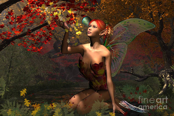 Autumn Fairy Poster