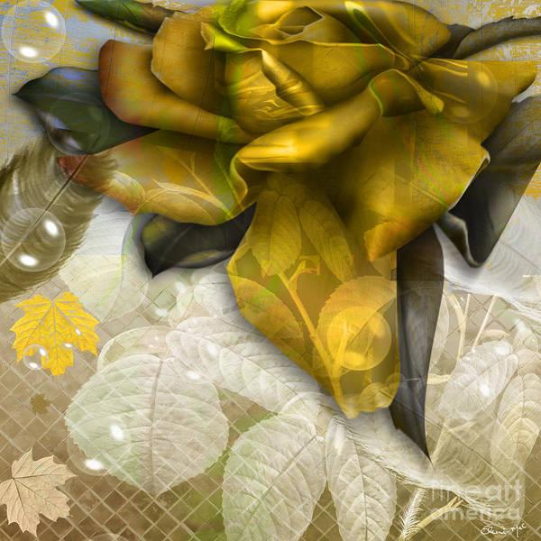 Poster featuring the digital art Autumn Flower by Eleni Mac Synodinos