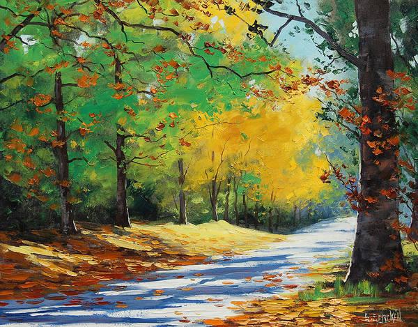 Autumn In Mt Wilson Poster