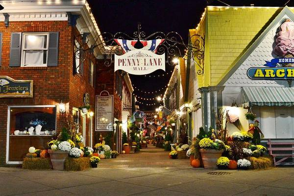 Autumn In Penny Lane - Rehoboth Beach Delaware Poster
