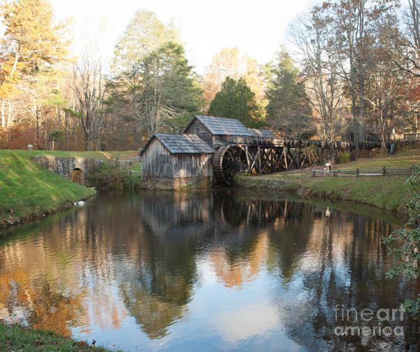 Autumn Morning At Mabry Mill Poster