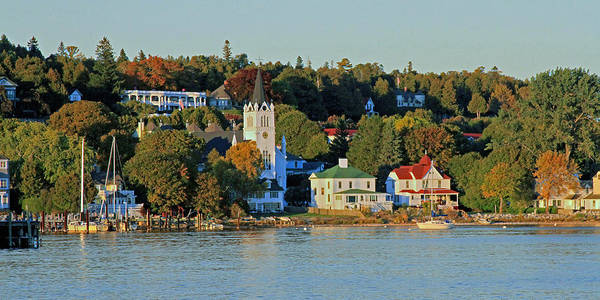 Autumn On Mackinac Island Poster