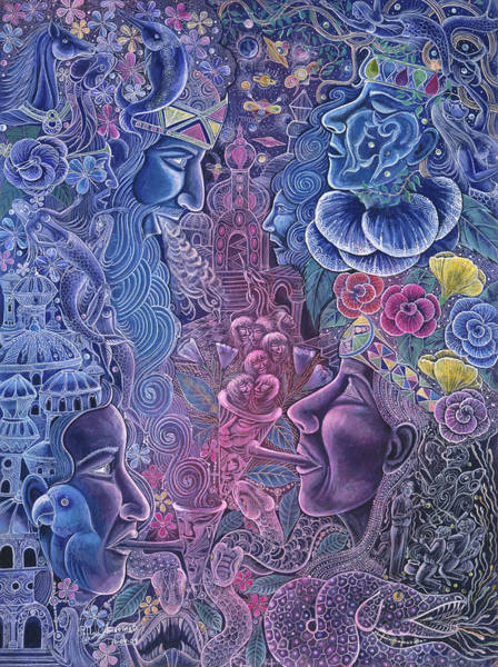 Poster featuring the painting Ayari Warmi by Pablo Amaringo
