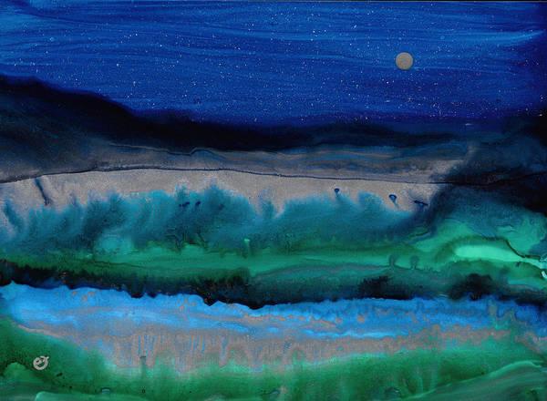 Azure Evening Poster