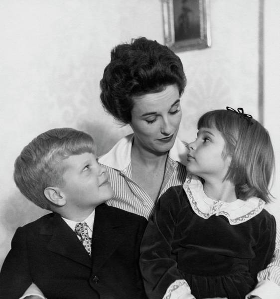 Babe Paley And Her Young Children Poster