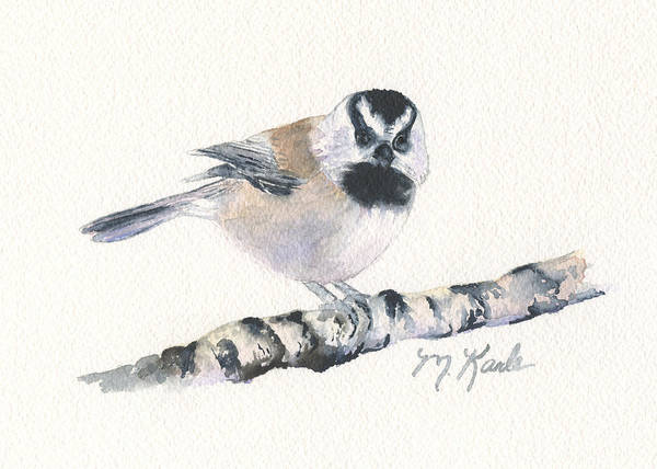 Backyard Busybody - Mountain Chickadee Poster