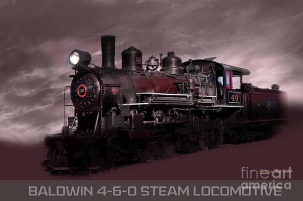 Baldwin 4-6-0 Steam Locomotive Poster