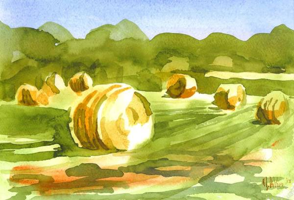Bales In The Morning Sun Poster