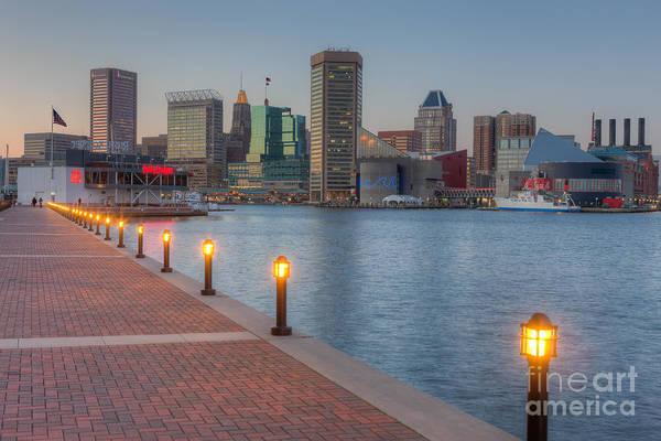 Baltimore Skyline At Twilight I Poster