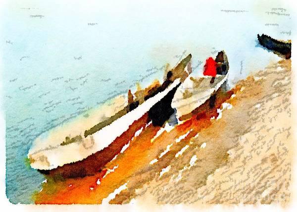 Barques Sur Le Chari Poster