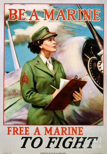 Be A Marine - Free A Marine To Fight Poster