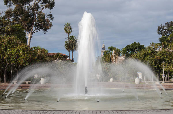 Bea Evenson Fountain In Balboa Park Poster