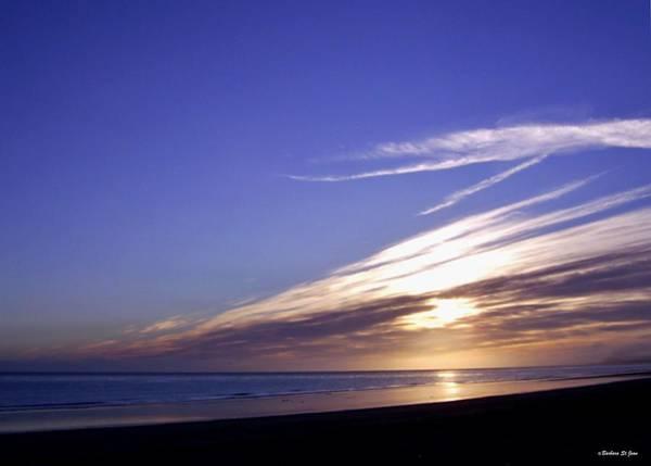 Beach Blue Sunset Poster