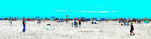 Beach Fun Frisbee Poster