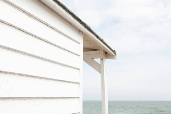 Beach Hut And The Sea Poster