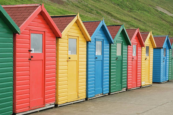 Beach Huts At Whitby Poster