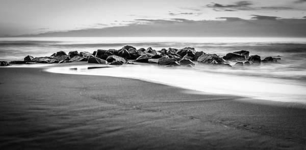Beach Rocks Sky Poster